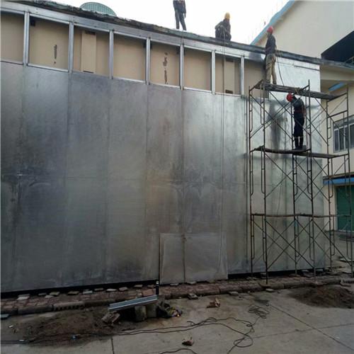 泄爆墙安顺实验室单层压型钢板泄爆墙定制安装